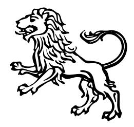 Aslan burcu simgesi